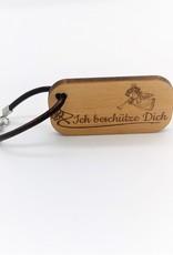 Der Schlüsselanhänger mit deiner Wunsch Gravur auf der Rückseite und besonderer Botschaft!