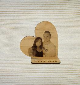 Deko Herz mit Fotogravur
