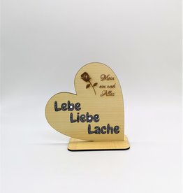 kslaserdesign Dekoherz mit Wunsch Gravur aus Holz mit Glitzerschrift