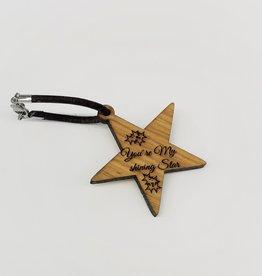 """kslaserdesign Schlüsselanhänger """"Star"""" mit Gravur"""