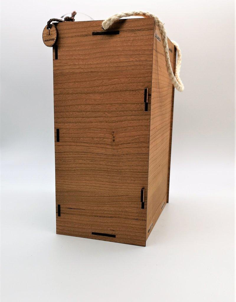 kslaserdesign Die perfekte Geschenkidee - die moderne Weinglasbox mit zwei Weingläsern der Marke Leonardo und Deiner Wunsch Gravur!