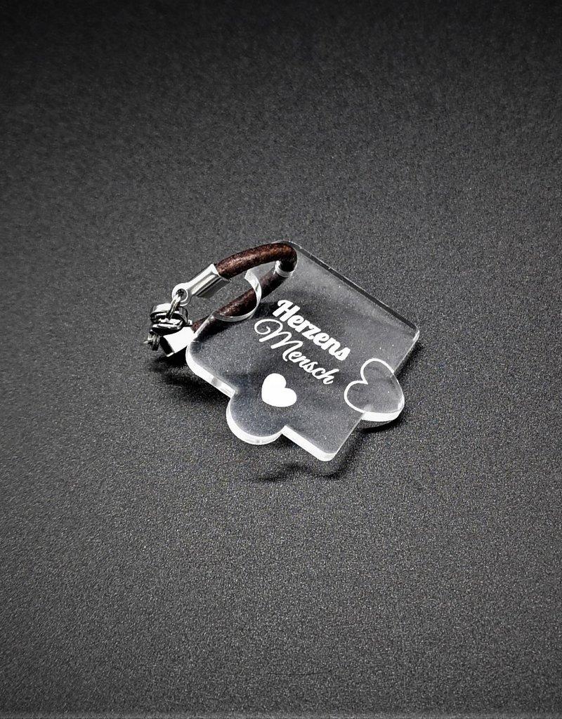 """kslaserdesign Das perfekte Geschenk für Paare, der Schlüsselanhänger """"Puzzle"""" mit Gravur Herzensmensch auf beiden Teilen!"""
