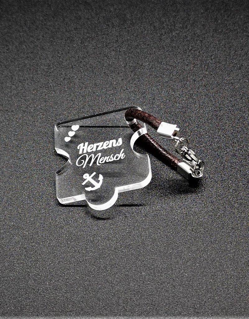 """Das perfekte Geschenk für Paare, der Schlüsselanhänger """"Puzzle"""" mit Gravur Herzensmensch auf beiden Teilen!"""