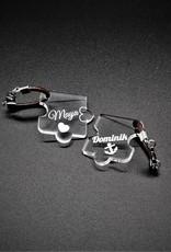 Style Deinen Schlüsselanhänger im Puzzle Design mit individuelle Wunsch Gravur!