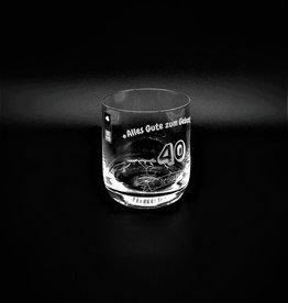 """Whiskeyglas """"zum Geburtstag"""" mit Gravur"""