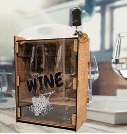 kslaserdesign Weingläser Geschenkbox im Set mit persönlicher Gravur