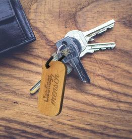 Schlüsselanhänger Holz mit Wunsch Gravur