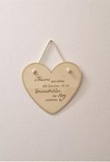 KS Laserdesign Der Herzaufhänger aus echtem Holz wird erst mit deiner persönlichen Gravur zur besonderen Geschenkidee!