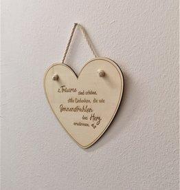 kslaserdesign Deko Herzaufhänger aus Holz mit Wunsch Gravur