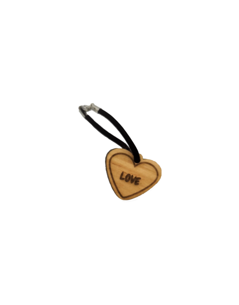 """Persönliche Schlüsselanhänger aus Holz, wie unsere Herz Anhänger """"little heart"""" mit Wunsch Gravur!"""