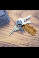 Bereite deinem Lieblingsmenschen eine Freude mit dem Schlüsselanhänger aus Holz mit rückseitiger Wunsch Gravur!