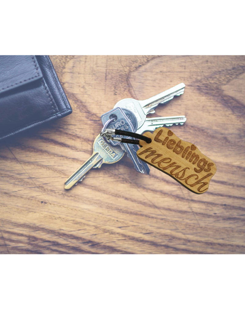 kslaserdesign Bereite deinem Lieblingsmenschen eine Freude mit dem Schlüsselanhänger aus Holz mit rückseitiger Wunsch Gravur!