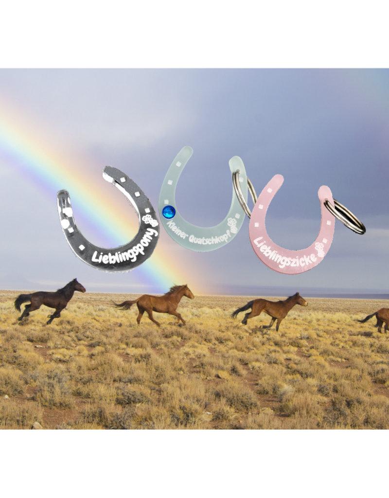 KS Laserdesign Pferdemarke aus Acrylglas mit Gravur - Das Original!