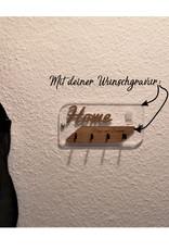 KS Laserdesign Das Schlüsselbrett mit dem Wow Effekt! Aus glasklarem Acryl und deiner Wunschkombination verschiedener Holzarten und persönlicher Gravur