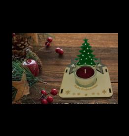 """Teelichthalter """"farbige"""" Weihnachtsmotive mit Gravur"""
