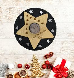 """Kerzenhalter """"Weihnachtsstern"""" mit Gravur"""