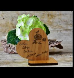 Dekoherz aus Holz mit persönlicher Gravur