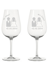 Leonardo Das passende Geschenk für Braut und Bräutigam, das Weinglas Set mit persönlichem Gravur Wunsch!