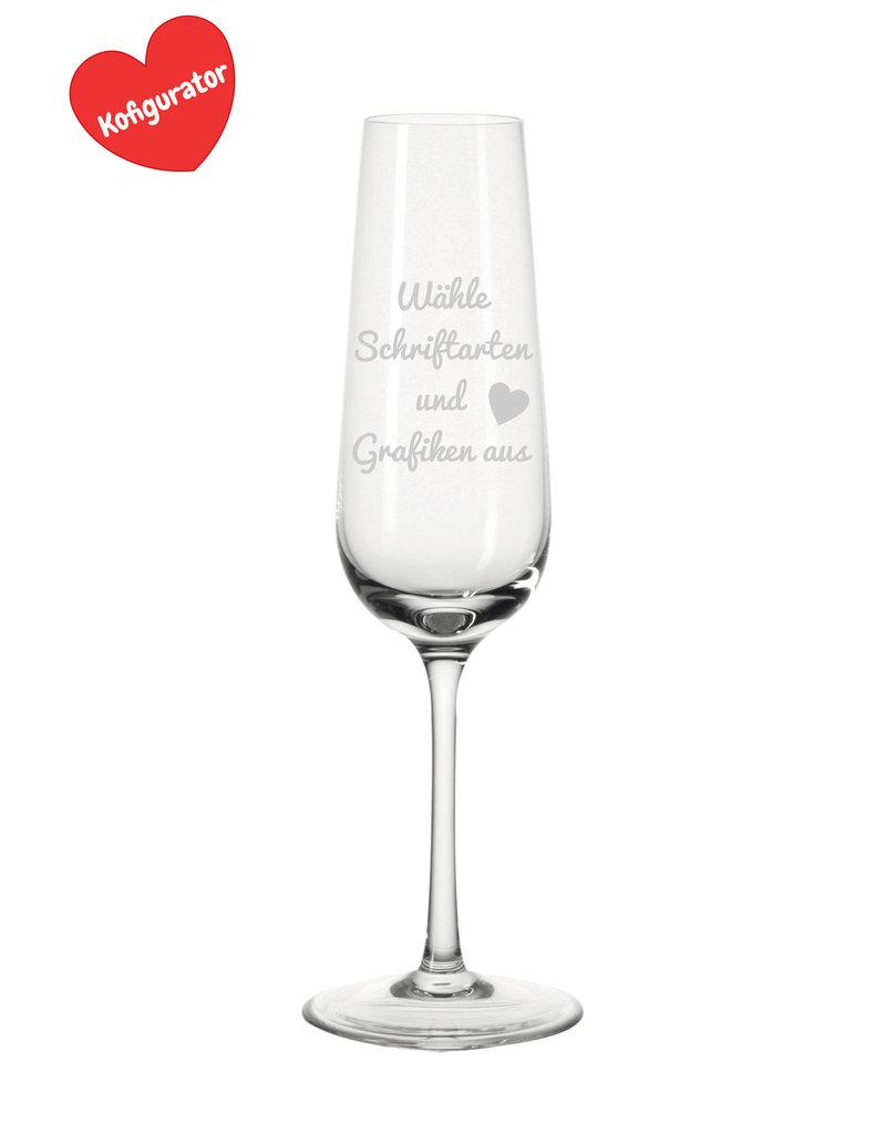 Leonardo Gestalte Dein Sektglas nach deinen Wünschen mit Grafik und Text!