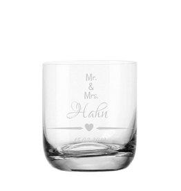 """Leonardo Whiskeyglas """"Mr. and Mrs."""" mit Gravur"""