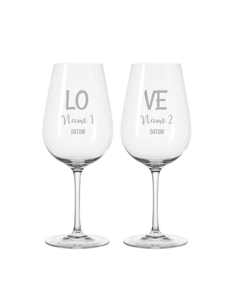 Leonardo Personalisiere deine Weingläser im Set mit Gravur, ideale Geschenkidee für viele Anlässe wie Hochzeit, Geburtstag uvm.!