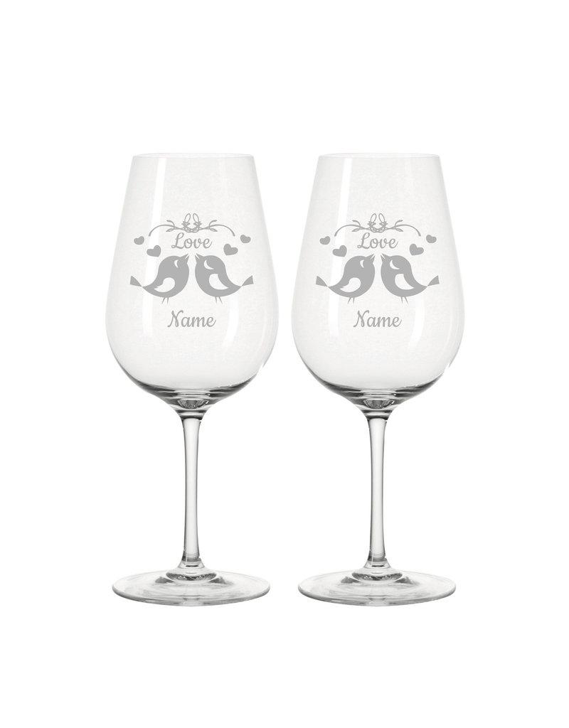 Leonardo Eine Geschenkidee die von Herzen kommt, personalisiere die Weingläser mit deiner Wunsch Gravur!