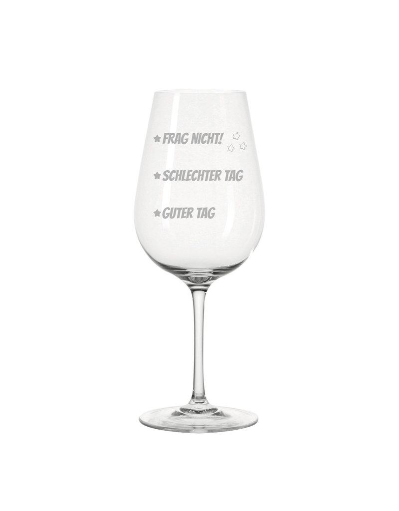 Leonardo Das Weinglas mit Stimmungstrich Gravur eignet sich für viele Anlässe, wie Geburtstag, Muttertag, Weihnachten und Weinliebhaber!