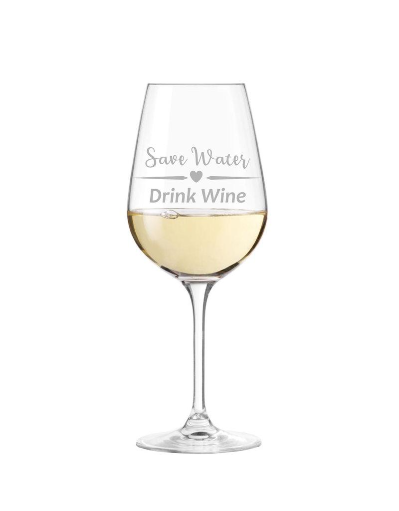 Leonardo Das witzige Weinglas mit coolem Spruch eignet sich hervorragend als Geschenk für viele Anlässe!