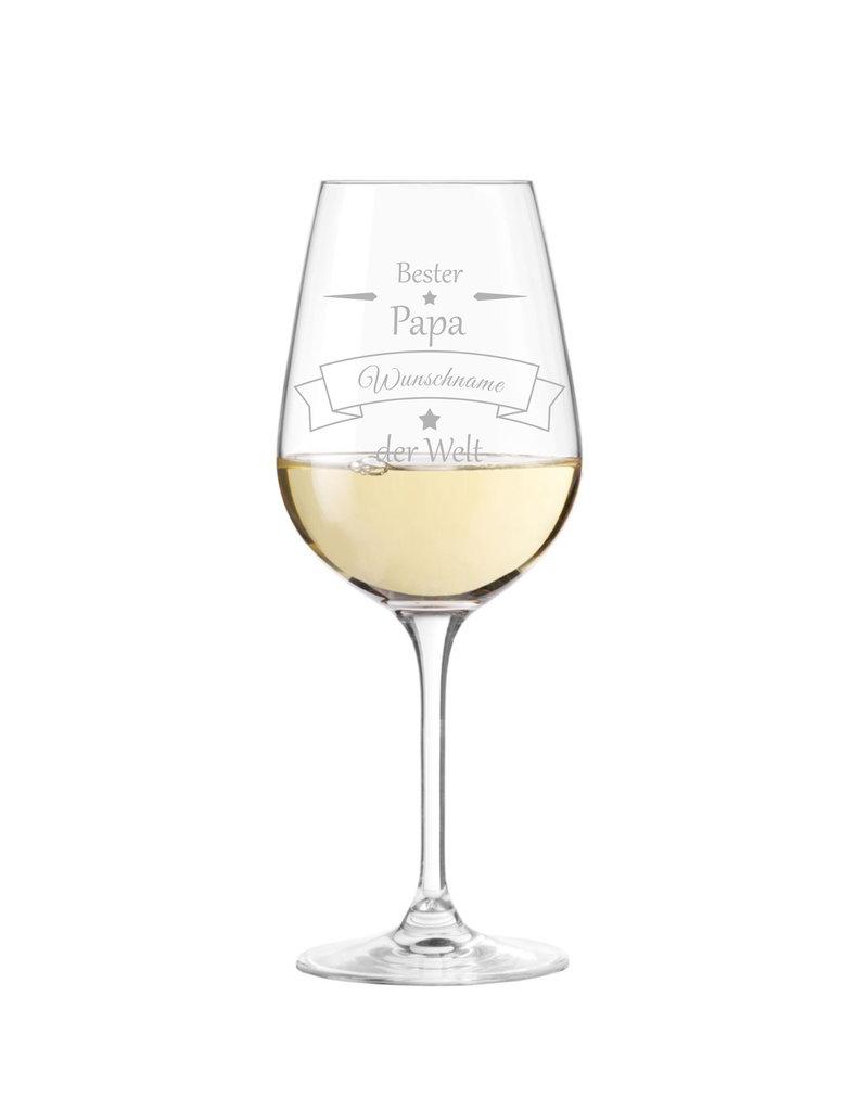 Leonardo Das Weinglas mit Gravur für den besten Papa der Welt eignet sich perfekt zu Vatertag oder Geburtstag!