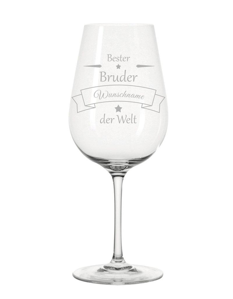 Leonardo Das Weinglas mit Gravur für den besten Bruder eignet sich perfekt als Geschenkidee zum Geburtstag!