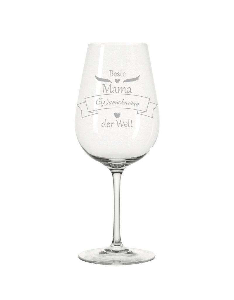 Leonardo Das Weinglas für die beste Mama der Welt und persönlicher Gravur eignet sich als optimale Geschenkidee!
