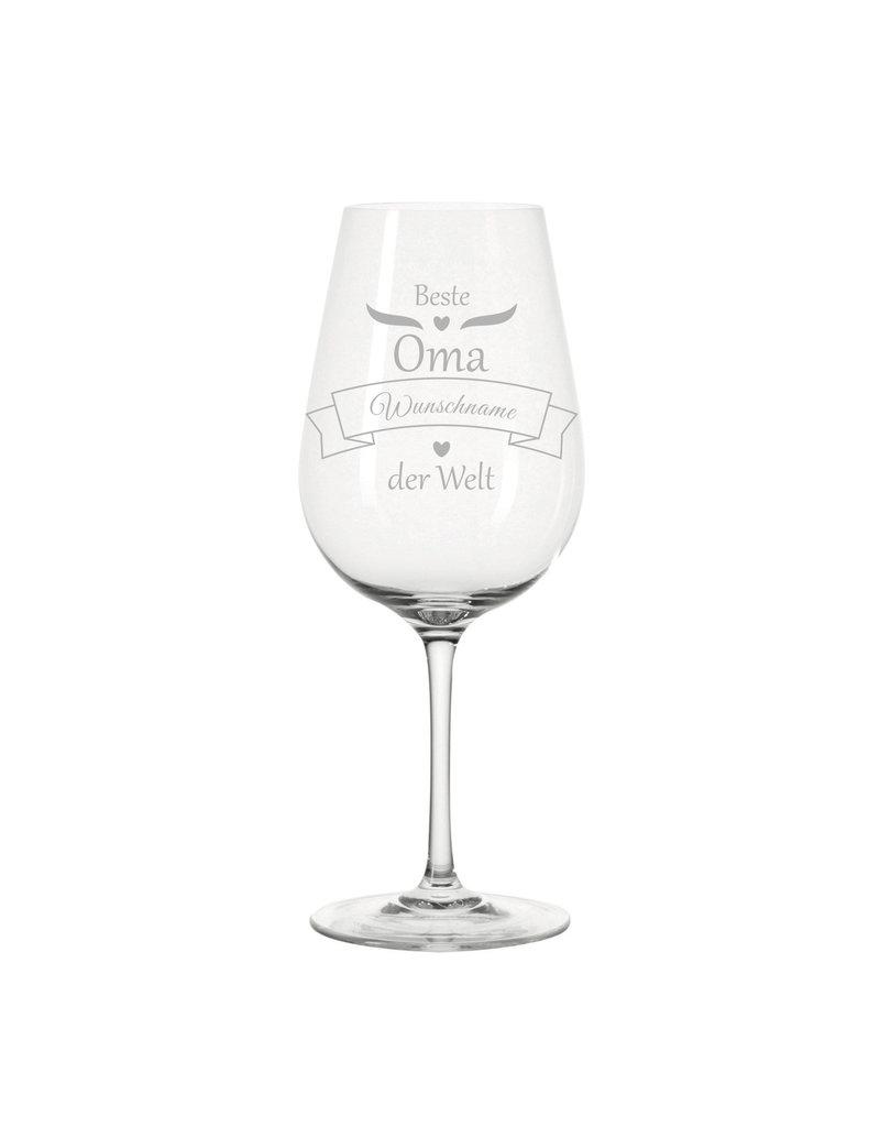 Leonardo Das Weinglas mit Gravur für den beste Oma eignet sich perfekt als Geschenkidee zum Geburtstag und vielen weiteren Anlässen!