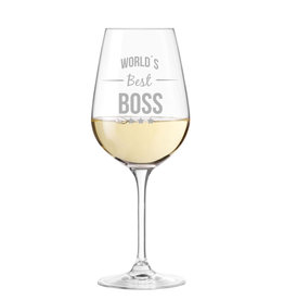 """Leonardo Weinglas """"Best Boss"""" mit Gravur"""
