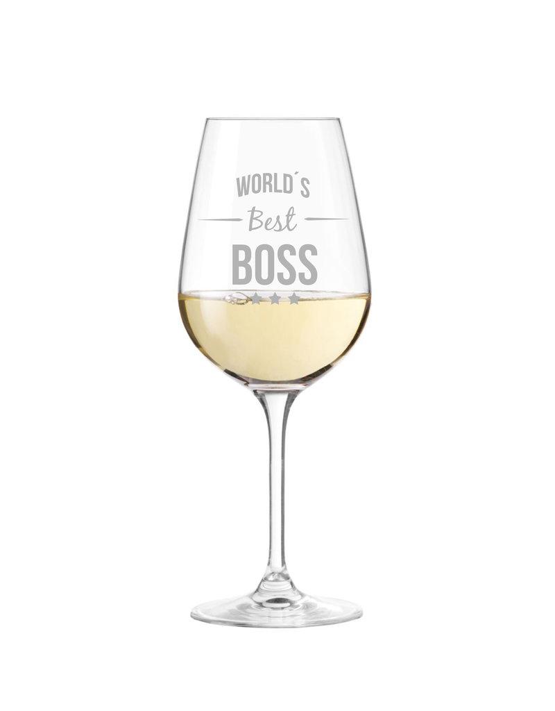 Leonardo Dein Chef ist einfach der Beste? Dann kannst du ihm mit dem Weinglas mit Gravur eine Freude machen!