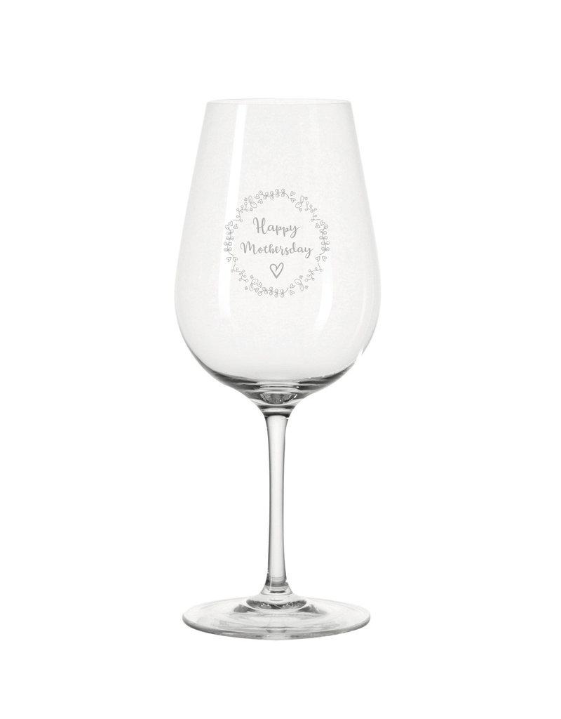 Leonardo Eine Geschenkidee speziell zu Muttertag die von Herzen kommt, das Weinglas mit hochwertiger Lasergravur!