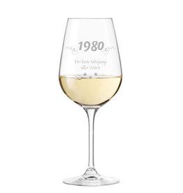 """Leonardo Weinglas """"bester Jahrgang"""" mit persönlicher Gravur"""