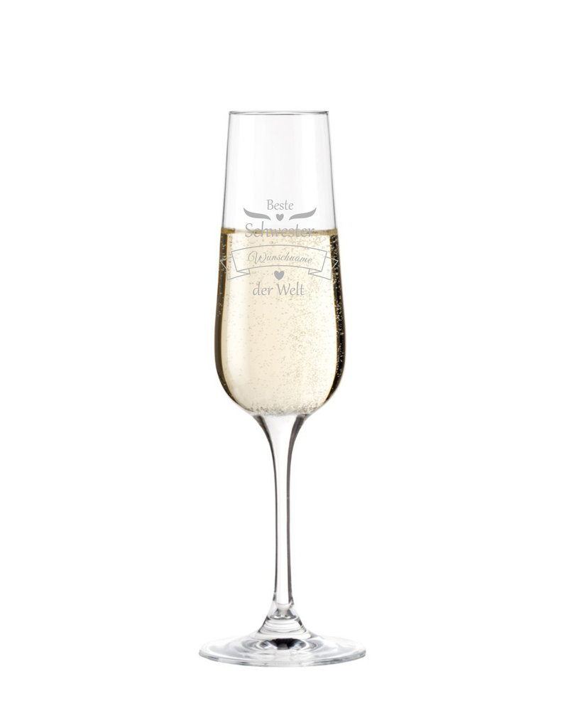 Leonardo Das Sektglas für die beste Schwester eignet sich für viele Anlässe und wird mit deiner persönlichen Gravur zum einzigartigen Geschenk!