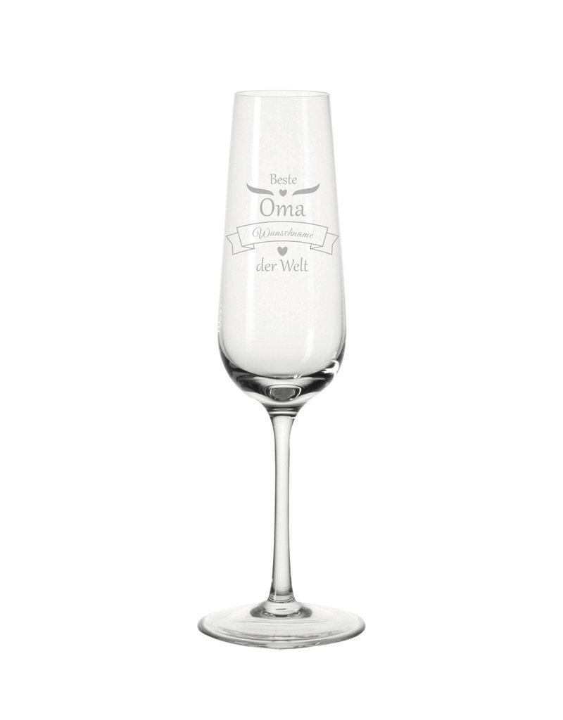 Leonardo Das Sektglas für die beste Oma eignet sich für viele Anlässe und wird mit deiner persönlichen Gravur zum einzigartigen Geschenk!