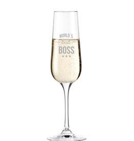 "Leonardo Sektglas ""Best Boss"" mit Gravur"