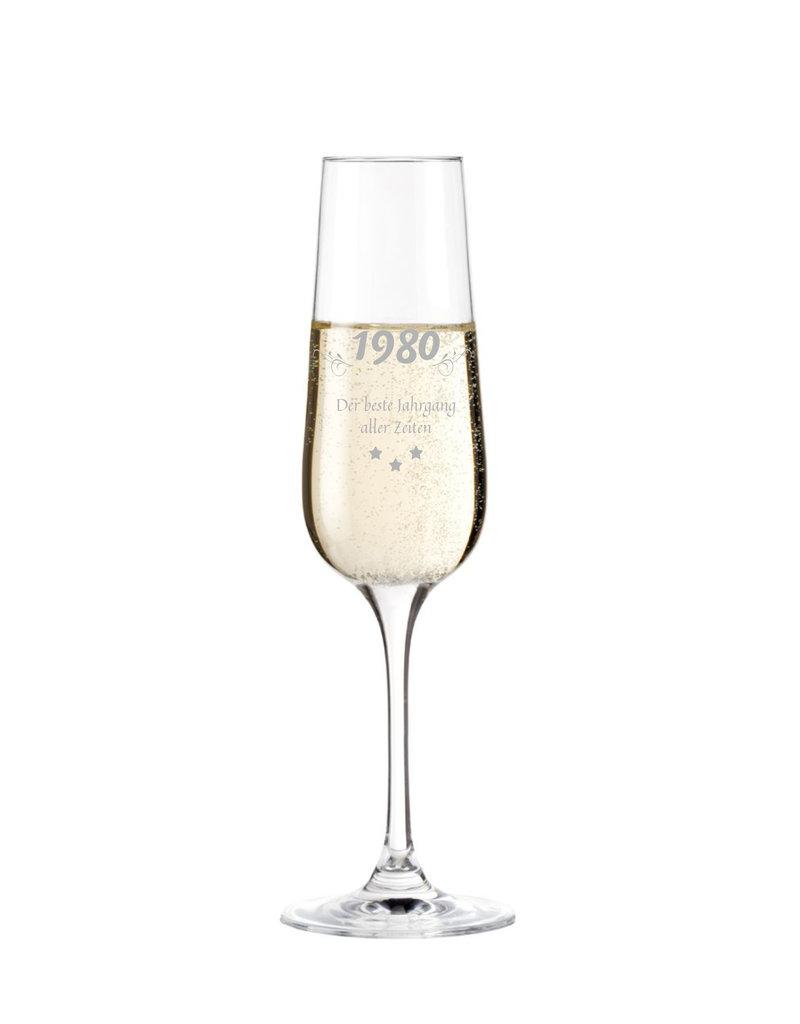 Leonardo Ein Sektglas für echte Genießer mit persönlicher Gravur des Jahrgangs!