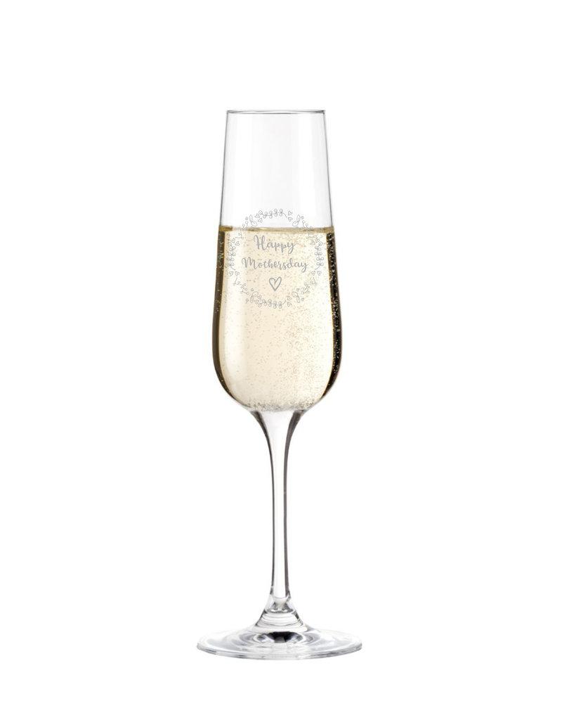 Leonardo Das Sektglas mit Gravur eignet sich besonders zu Muttertag und sorgt immer wieder für eine echte Überraschung!