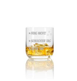 """Leonardo Whiskeyglas """"guter Tag schlechter Tag"""" mit Gravur"""