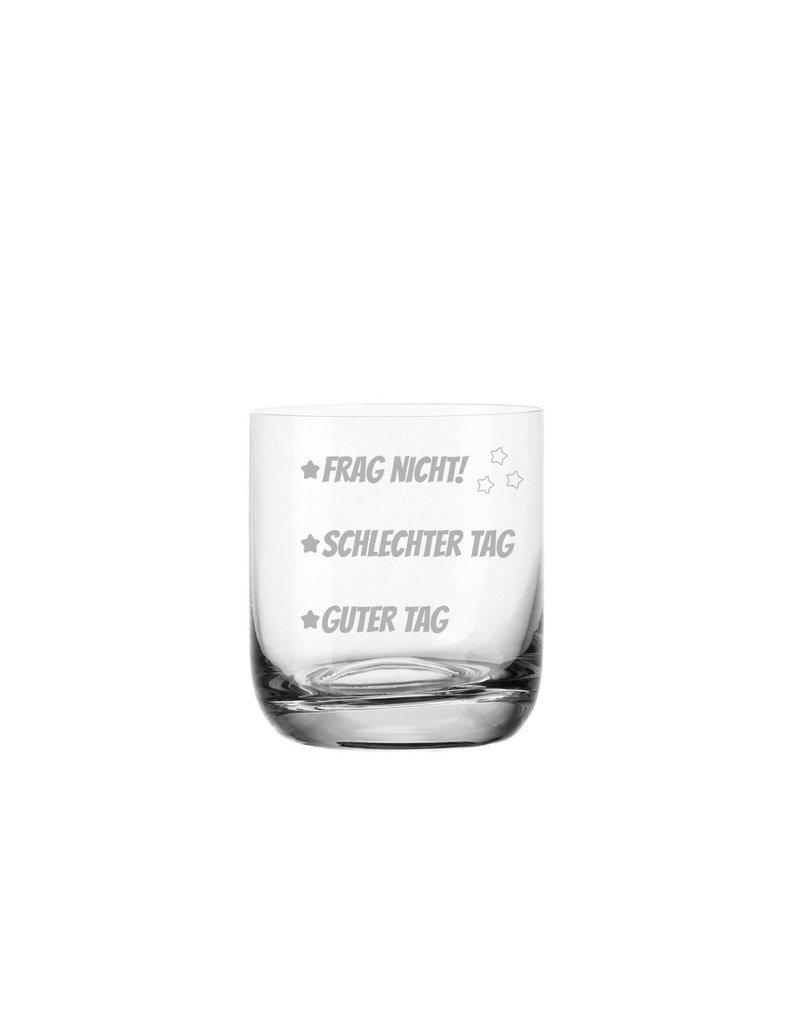 Leonardo Das Whiskeyglas mit gravierten Stimmungsstrichen eignet sich hervorragend als witzige Geschenkidee zu vielen Anlässen!