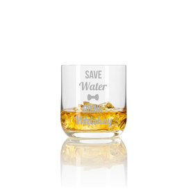 "Leonardo Whiskeyglas ""save water drink whiskey"" mit Gravur"