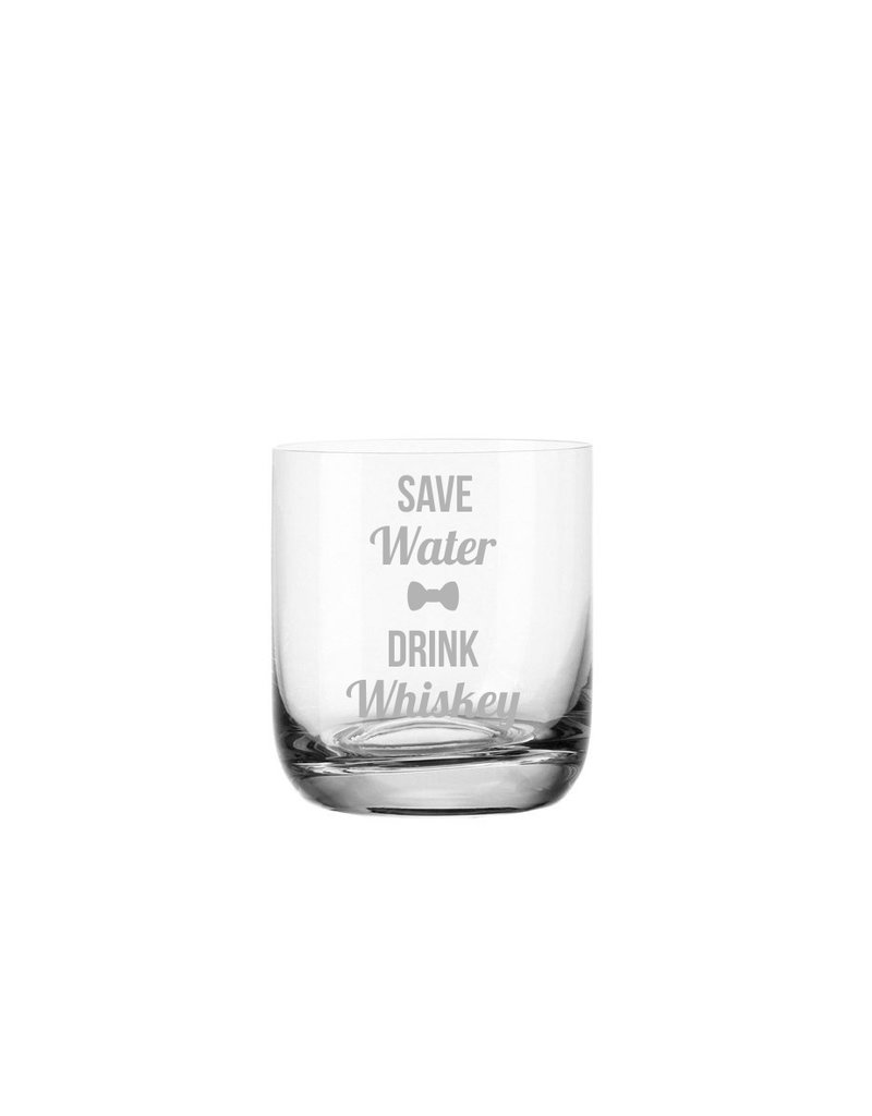 """Leonardo Das Whiskeyglas mit lustigem Spruch """"save water drink whiskey"""" eignet sich als Geschenk für viele Anlässe!"""