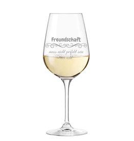 """Leonardo Weinglas """"echte Freundschaft"""" mit Gravur"""