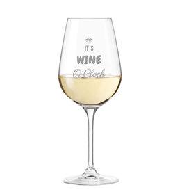 "Leonardo Weinglas mit Spruch ""it´s wine o´clock"" Gravur"