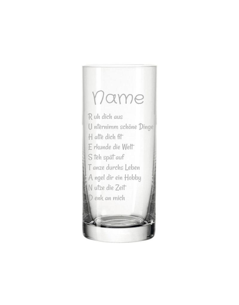 Leonardo Das Trinkglas mit Gravur eignet sich ideal als Geschenk zur Rente und bereitet große Freude dank der eingravierten schönen Sprüche!
