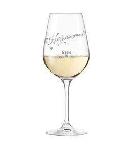 """Leonardo Weinglas """"Herzensmensch"""" persönliche Gravur"""
