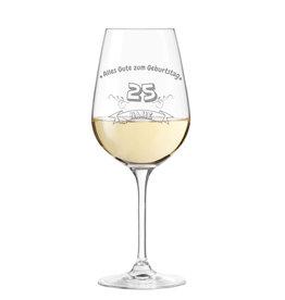 """Leonardo Weinglas """"zum Geburtstag"""" mit persönlicher Gravur"""